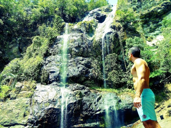 Stefan at Cunca Rami Waterfall near Labuanbajo on Flores Island