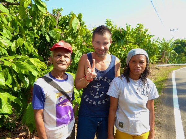 Gay Pride Labuanbajo Seb with locals on Flores island