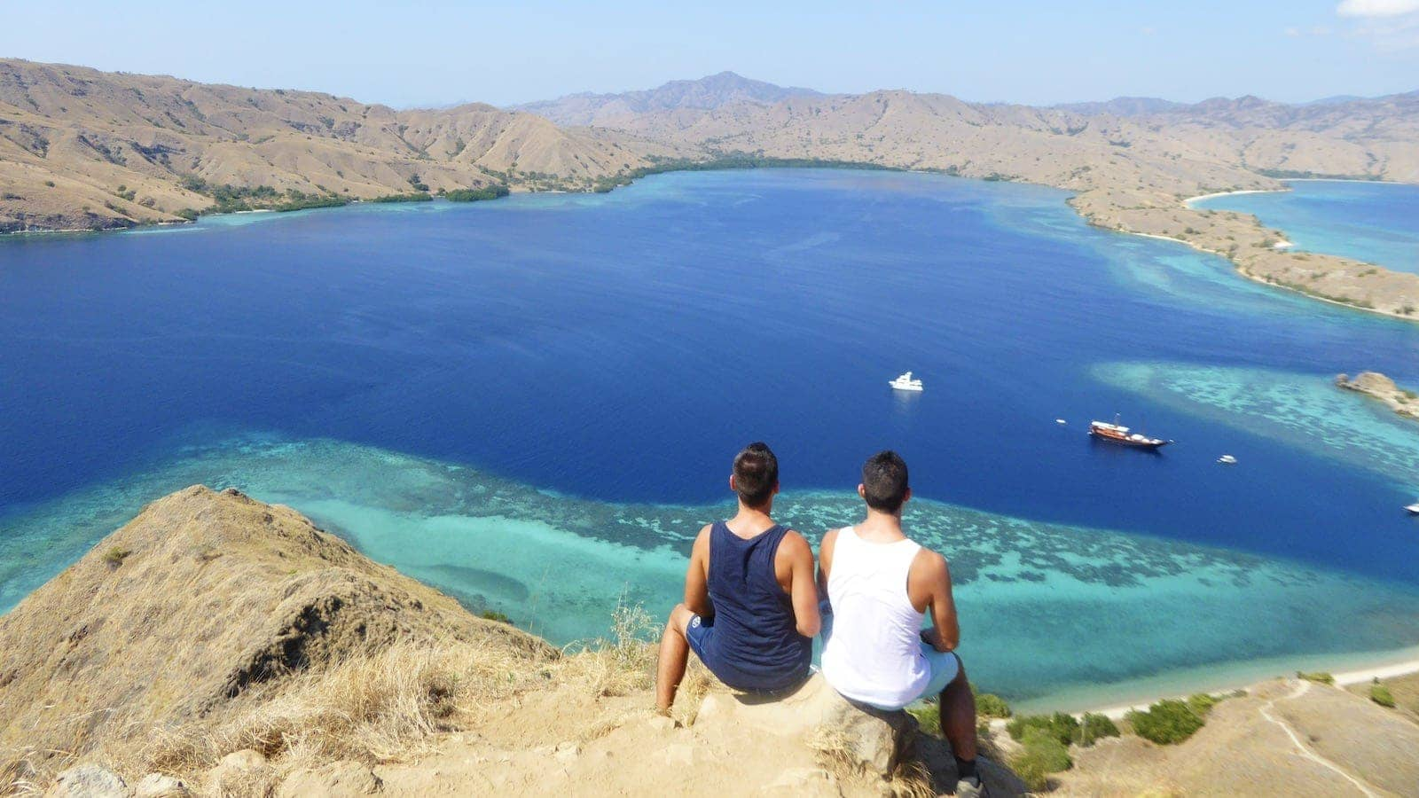 Gay couple in Indonesia at the Komodo National Park