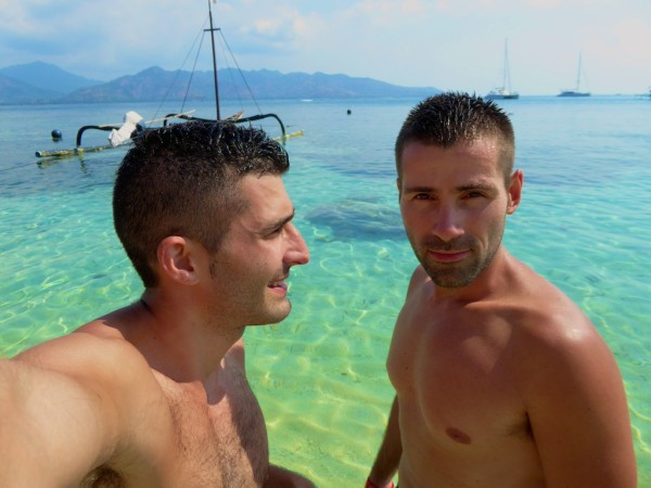 The Nomadic Boys gay pride Gili Meno