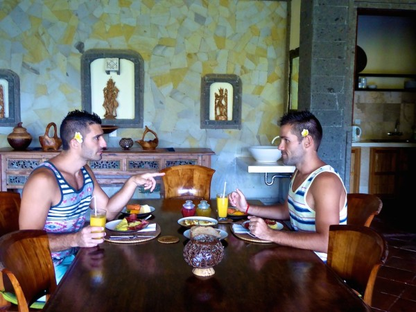 Eco friendly breakfast talk at Villa Awang Awang in Ubud