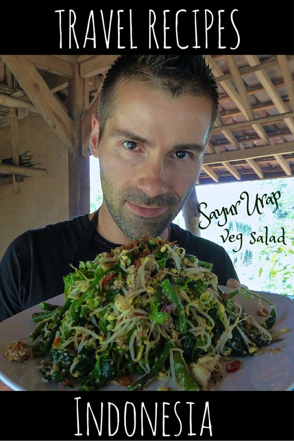 Travel #vegetarian #recipe from #Indonesia Indonesian sayur urap vegetable salad