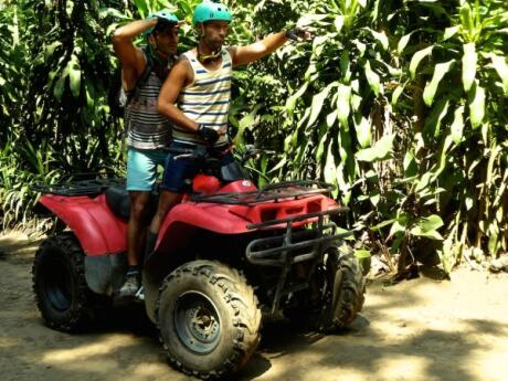 Quad biking in Ubud countryside in central Bali