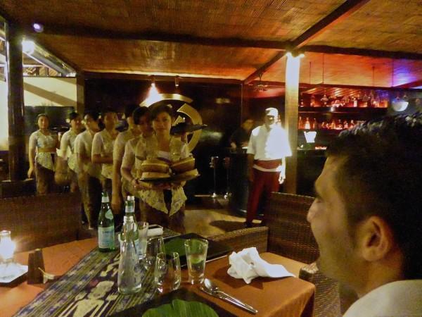 Royal Rijstaffel meal at Hust Restaurant in Seminyak, Bali