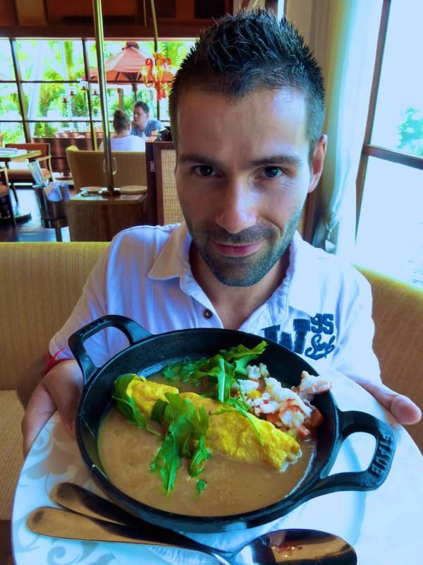 Breakfast fine dining at Boneka restaurant St. Regis Bali Nusa Dua