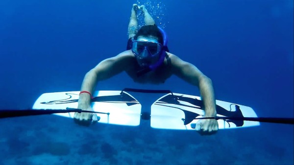 Subwing underwater shot Seb gay friendly guide Gili Trawangan