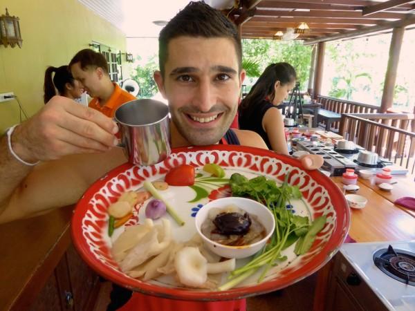 Thai tom yum cooking class Chiang Mai