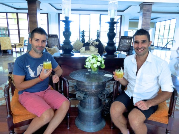 Welcome drinks at St. Regis Resort Bali, Nusa Dua