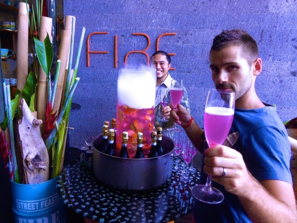 Welcome drink FIre restaurant W hotel in Seminyak