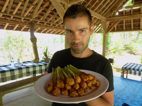 Chicken satay best traditional food of Indonesia cooking class Ubud in Bali