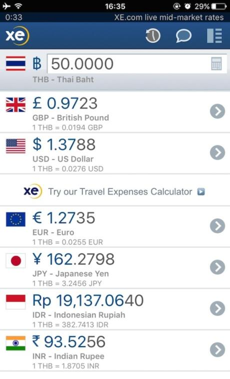 XE Currency one of our fav gay travel apps for planning