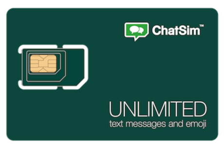 Chat SIM card for unlimited messaging