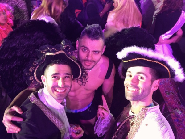 Queernaval gay carnival France topless angel with Stef Seb