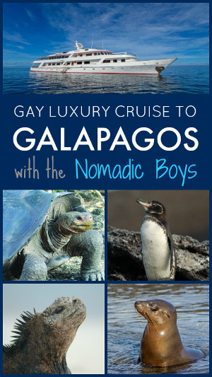 Gay cruise to the galapagos with Nomadic Boys