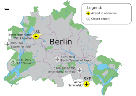 get from Tegel airport to Berlin map