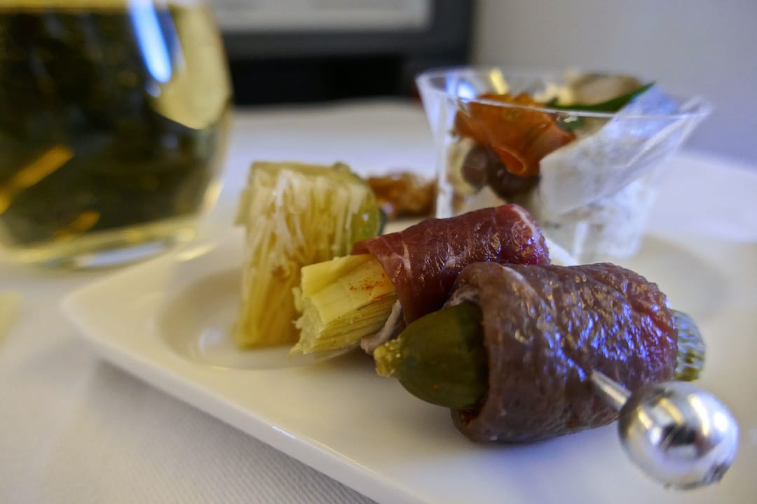 Our delicious amuse-bouches ANA business class starter