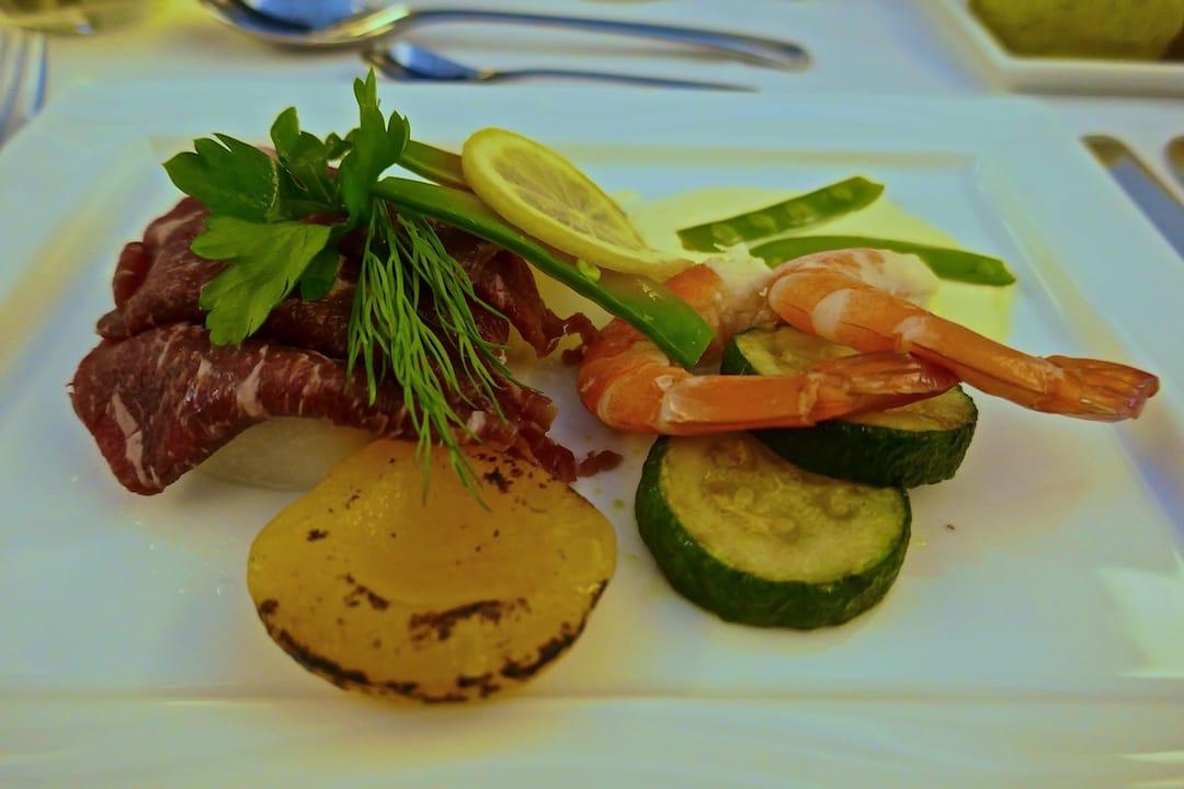 ANA business class international cuisine started