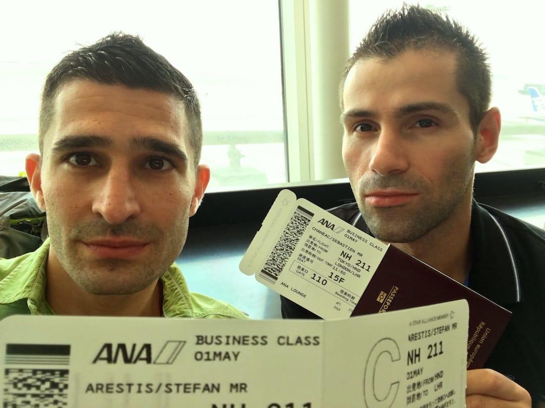ANA business class boarding passes Nomadic Boys