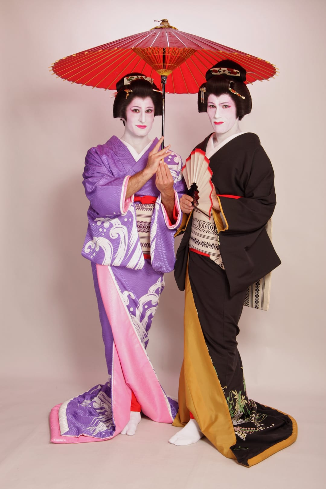 Nomadic Boys geisha makeover in Tokyo
