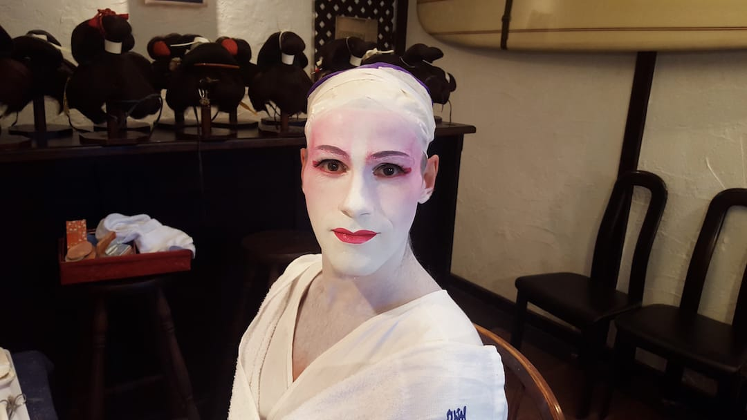 Geisha makeover in Tokyo Sebastien 1 hours make up