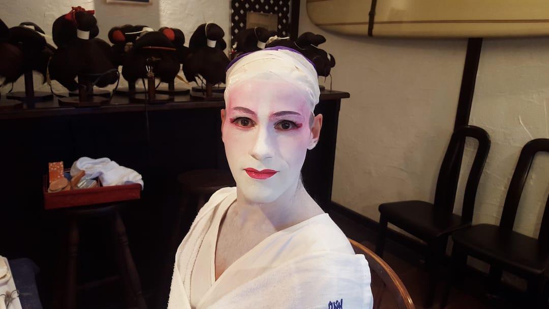 Geisha makeover in Tokyo Sebastien 1 hours make up