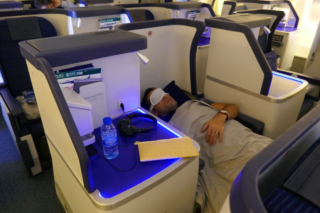 ANA Business class fully reclinable seat