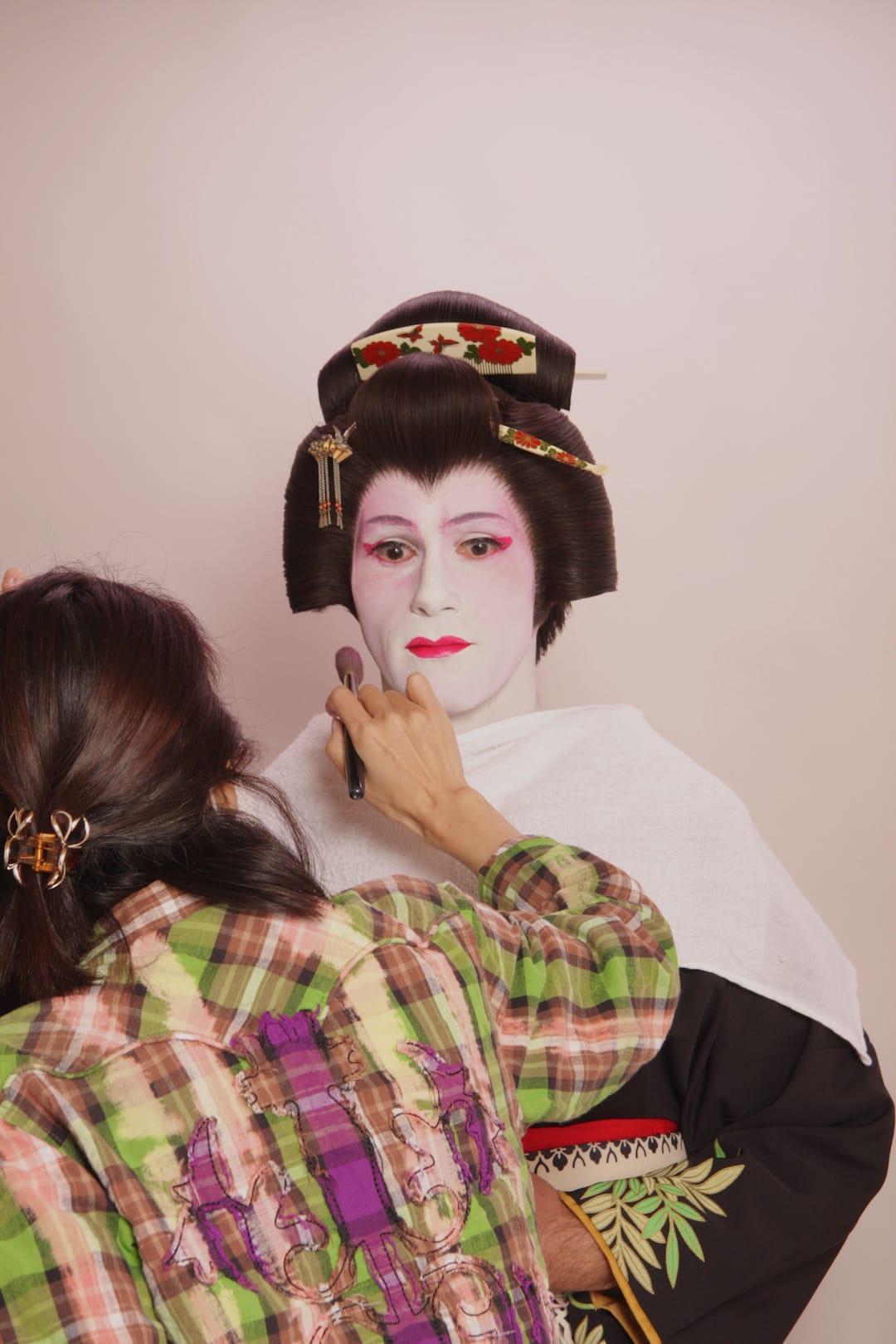 Sebastien geisha makeover in Tokyo