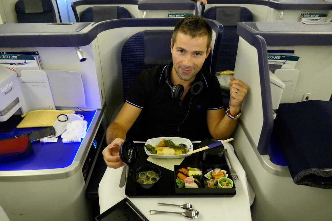 ANA business class review a la carte Japanese food options