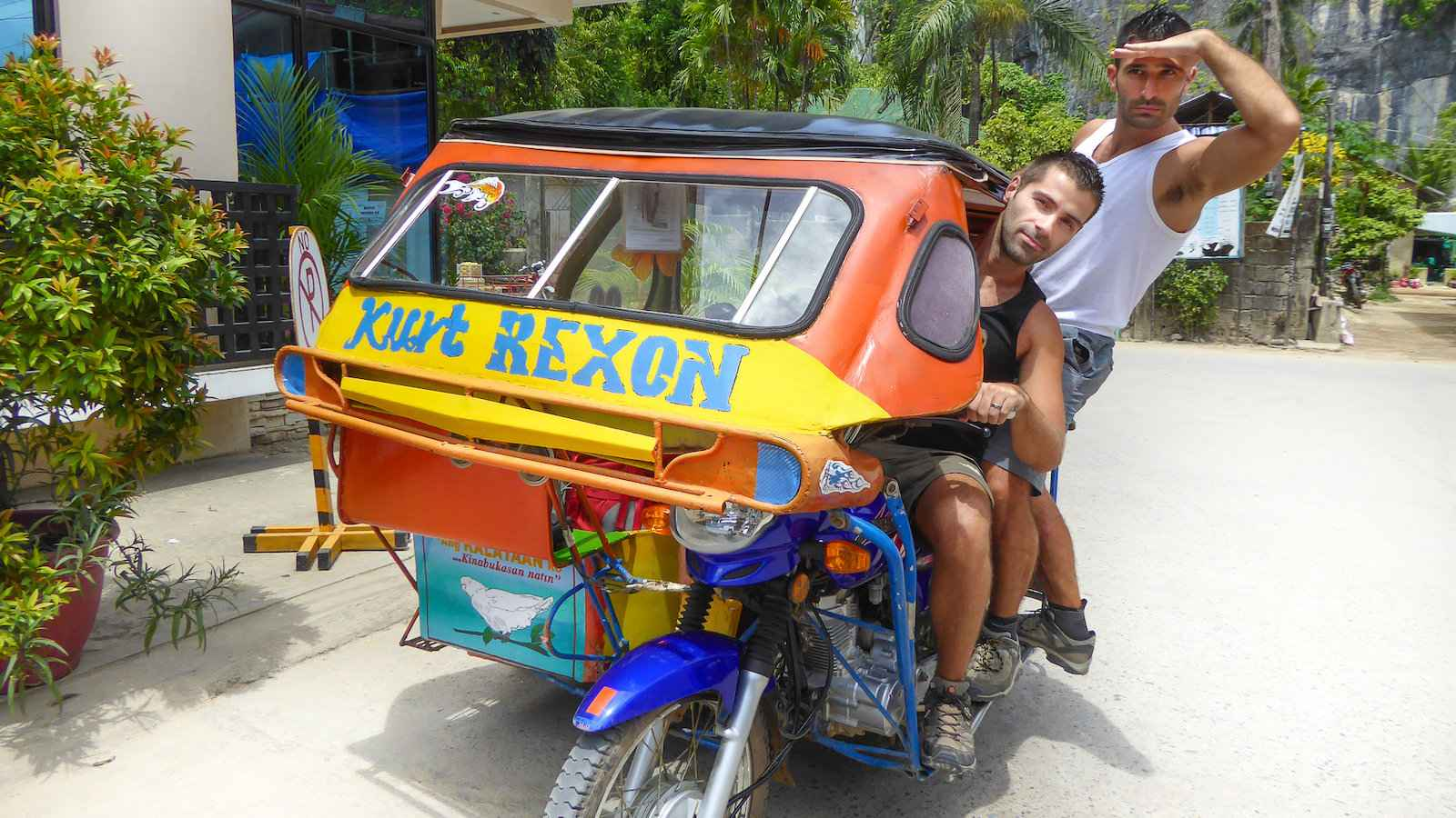 Tricycles are also a popular form of transport in the Philippines