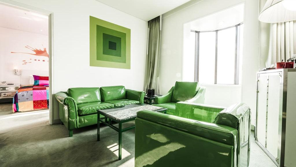 The Imperial Palace Boutique Hotel is very stylish with pop-art style decor, an excellent restaurant and well-equipped gym