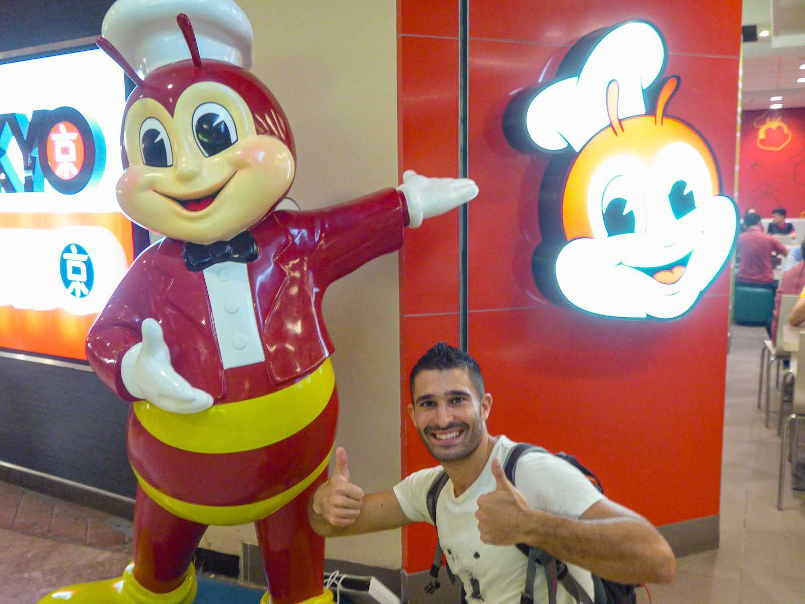 Jollibee is a fast food outlet in the Philippines with the cutest bee mascot!