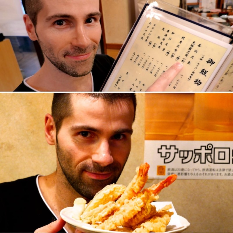 Point and hope method of eating in Tokyo