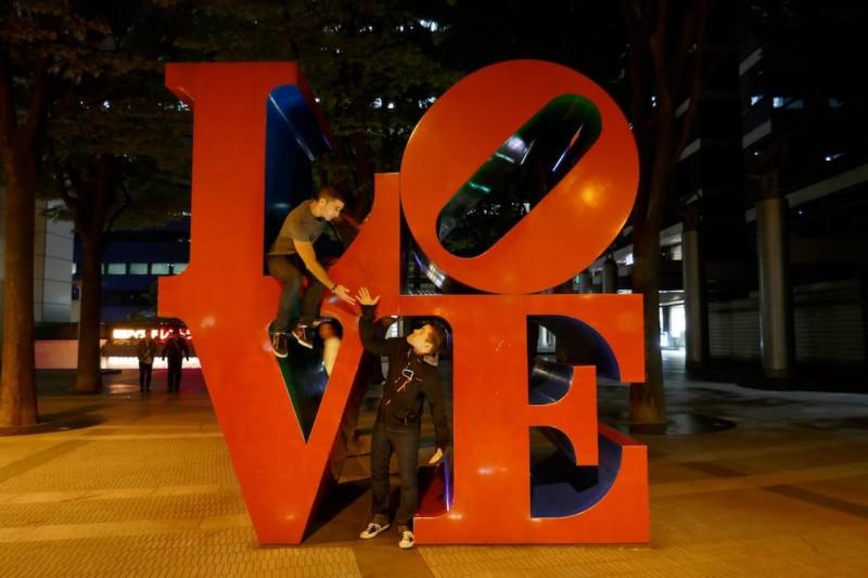 Gay Tokyo guide LOVE statue Shinjuku