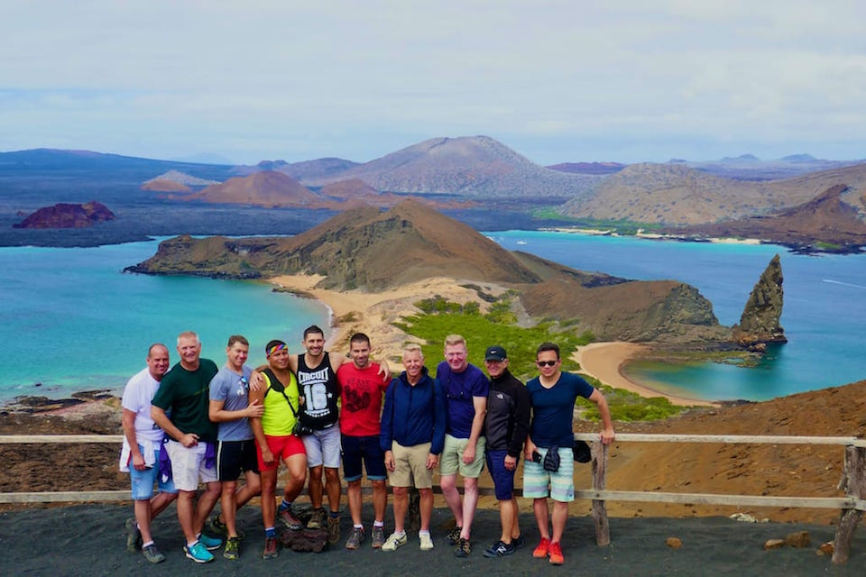 gay cruise to the galapagos Bartolome island group pic