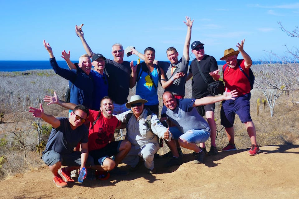 galapagos luxury cruise excursion group pic