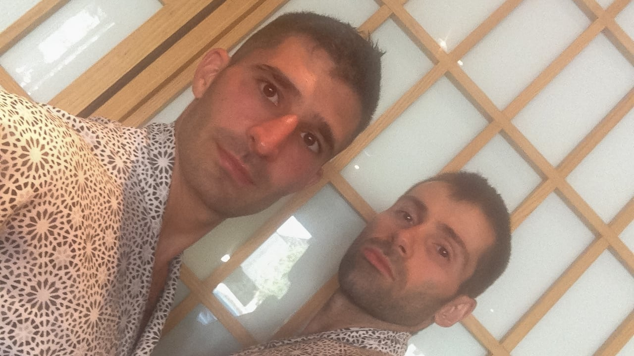 Our gay onsen in Tokyo selfie