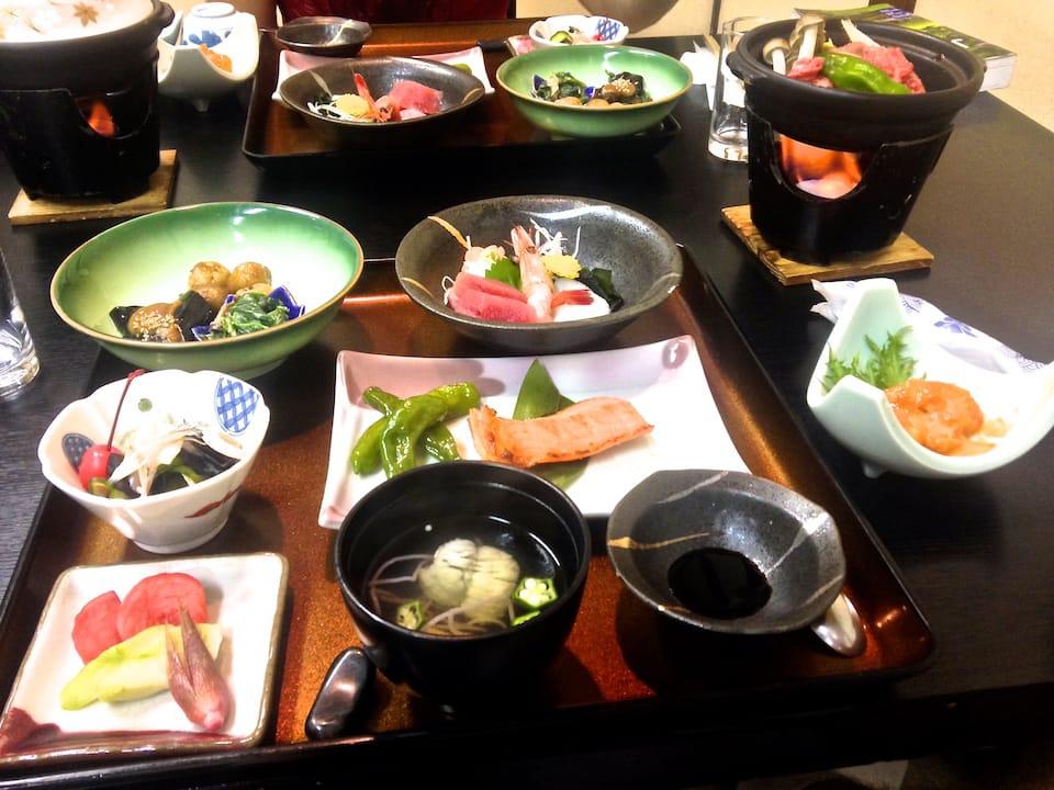 Japan trip blog Takayama Sumiyoshi Ryokan Kaiseki