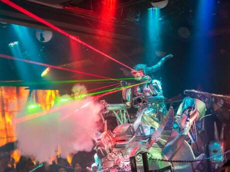 Tokyo is full of very quirky attractions, like the robot cafe which has a very cool light show performed by the robot!