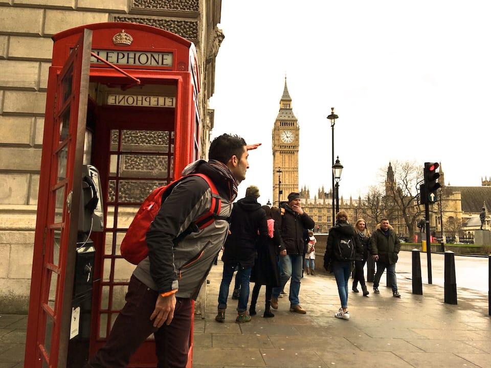 free trip to London Big Ben London phone box