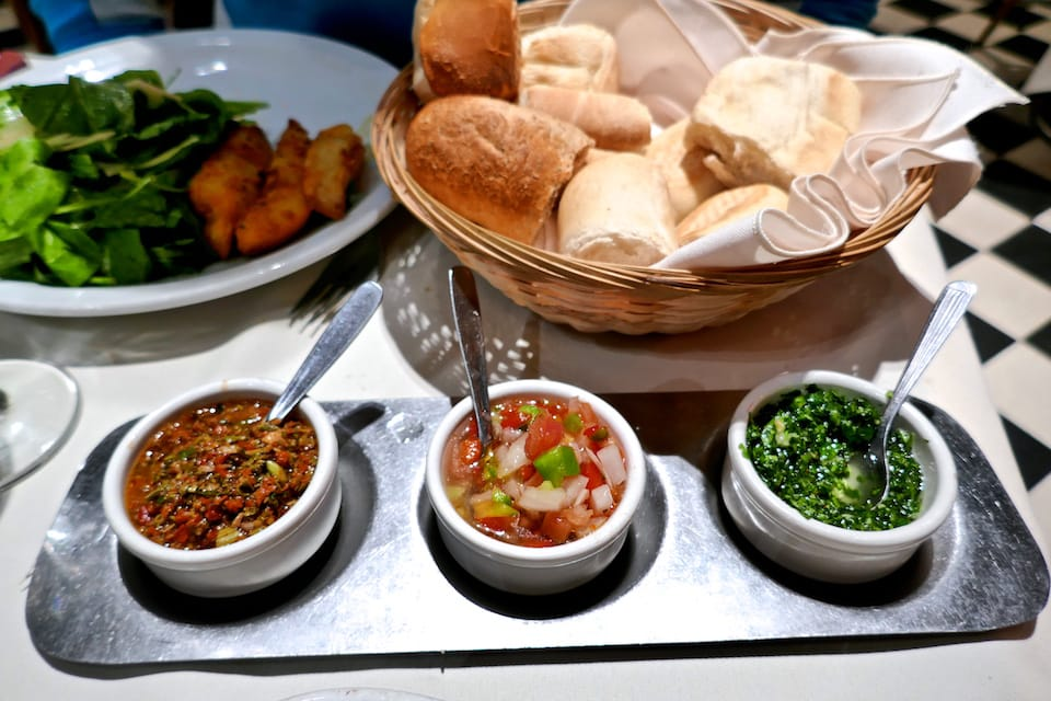 Chimichurri, provencal and criolla sauces, some of the best foods of Argentina.