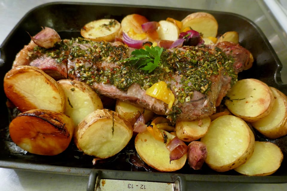 Argentinian steak with chimi churri sauce