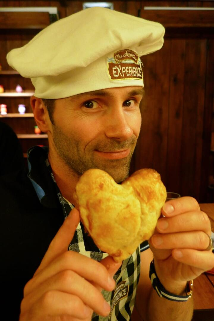 The best food of Argentina - a heart shaped empanada!