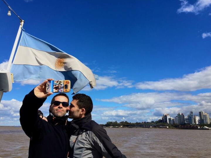 Gay Rosario river cruise on Parana River.