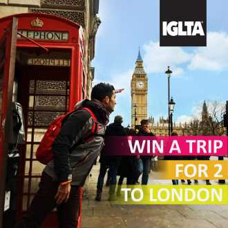Win a trip to London banner ad