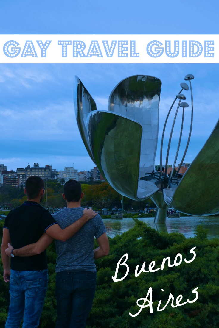 This is our Pinterest cover pic for our Gay travel guide to Buenos Aires