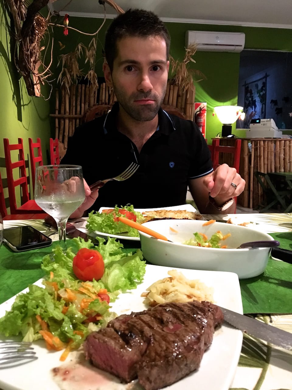 Sebastien Iguazu dinner road trip in northeast argentina