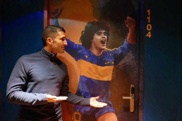 Hotel Boca in Buenos Aires pays homage to Diego Maradona with a room dedicated to him!