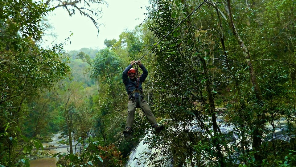 Mocona jungle ziplining is a fun activity to do during your road trip in northeast Argentina.