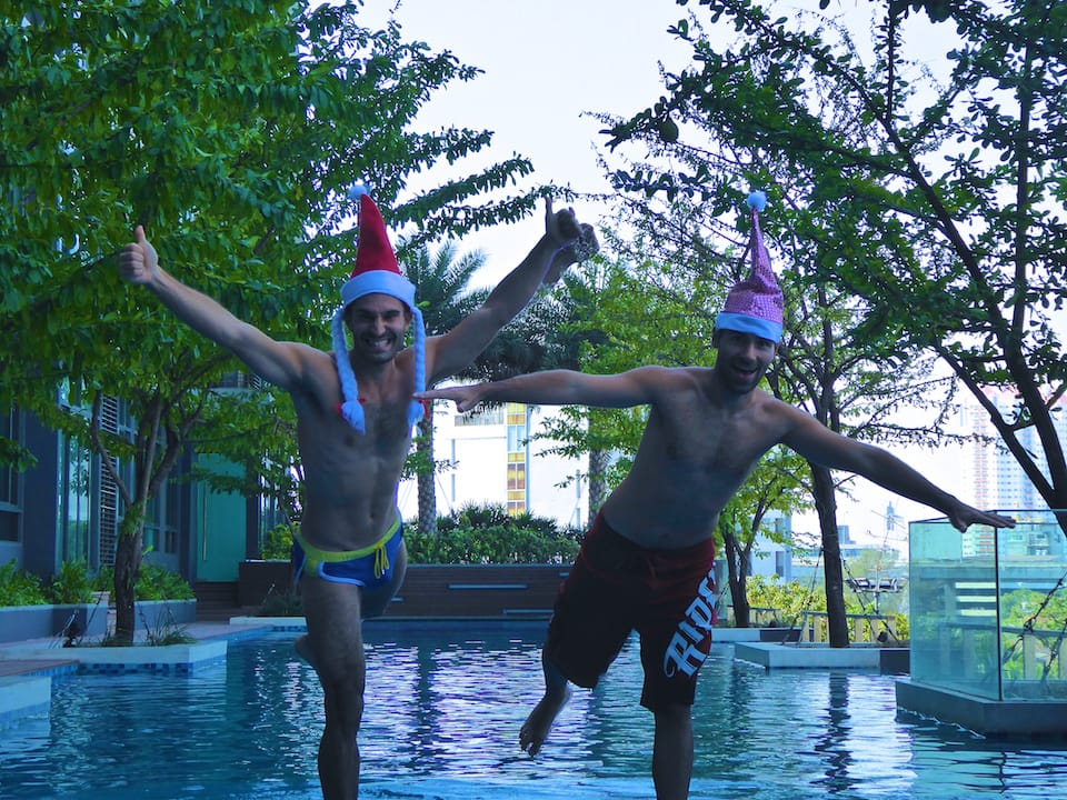 how to keep fit while travelling swimming