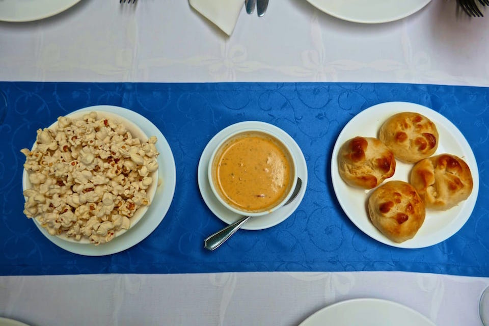Appetisers for recipe for locro de papa